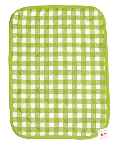 GREEN COLOUR CHECK COTTON QUILTED TABLE PLACE MAT